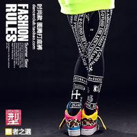 Dance pants Sport pants are female Legging Punk street Women's trousers Hip hop leggings Rock style women sportswear sport pants