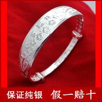 99 pure silver bracelet Women sliding 999 pure silver 999 fine silver bracelet fashion r8
