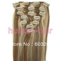 """15""""18""""20""""22""""24""""26"""" Clip remy hair extension #12/613 piano colour 70gram 80gram 90gram 100gram"""