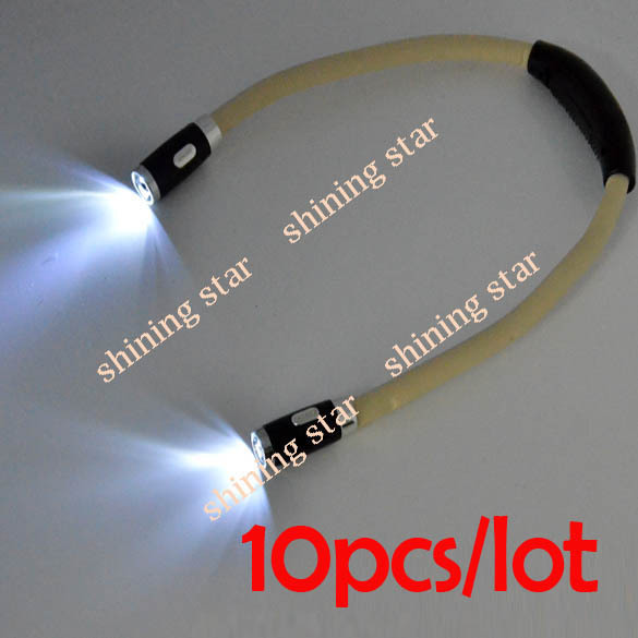 hot sale 10pcs/lot Hands Free LED Hug Light Cool Flexible Neck Night Reading Book Hug Light S11993(China (Mainland))
