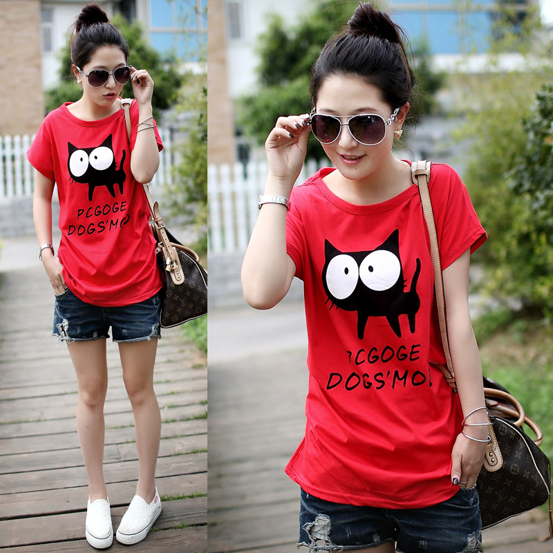 2013 summer casual t shirt female short-sleeve shirt sunscreen women's loose short-sleeve T-shirt ,3pcs/lot,free shipping(China (Mainland))