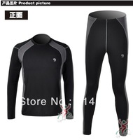 HARD WEAR Man autumn and winter thermal underwear sets gentleman men's warm underwear suit sport combination