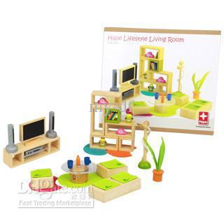 Arrangement of the children in the small living room bamboo play house educational toys