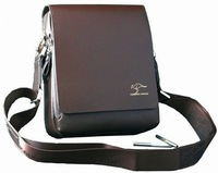 Free shipping!2013 Fashion PU leather casual men shoulder bag black/brown