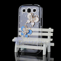 New Fashion Hot Lovely Metal 3D Luxury Butterfly Bling Diamond Crystal Case Cover For Samsung Galaxy S3 SIII i9300 Free Shipping