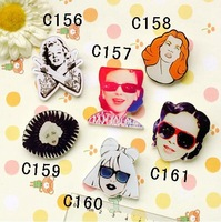 min mix order is $20 13 NEW hotsale popular acrylic Gaga pin brooch cartoon free shipping 156 157 158 159 160 161