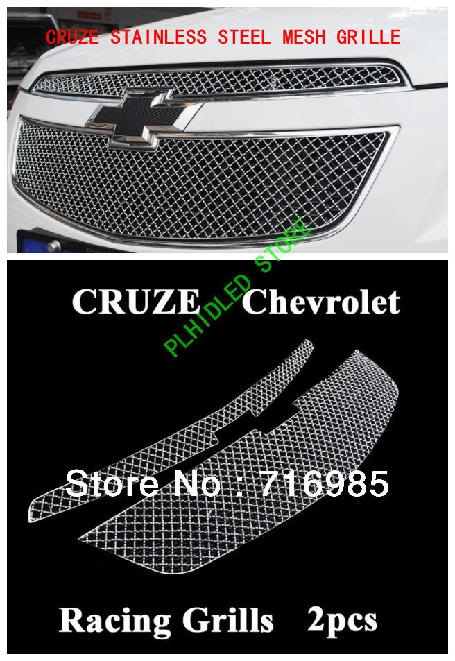 2009-2012 Chevy Cruze Stainless Steel Mesh Grille Grill Insert(China (Mainland))
