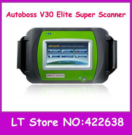 DHL Free shipping 2013 Autoboss v30 Elite Super scanner with printer For All obdii cars update online(China (Mainland))
