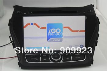 Free shipping Car DVD player   for Hyundai IX45,Santa Fe 2013  with DVD,GPS,POD,BT,ATV,3G,RADIO,all function+map gift!
