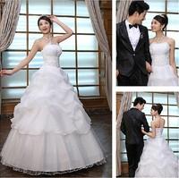 2013 new Design Modern women sweet princess Puff  Wedding dress two color  size: S M L XL  free shipping