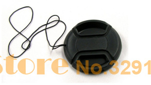 Free shipping 58mm Center Pinch Lens Cap Cover for Canon Nikon SONY front cap(China (Mainland))