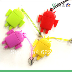 Free shipping Factory sale USB 2.0 Cute Android Robot Doll Mini TF/ Micro SD Card Reader(China (Mainland))