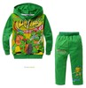 New 5sets/lot Autumn children clothing fleece suit set/Baby boys two-piece fashion Teenage Mutant Ninja Turtles set/Hoodie+Pants(China (Mainland))
