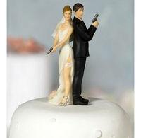 Sexy Spy Wedding Cake Toppers