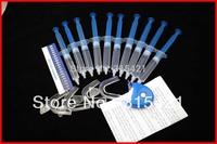 1packs Tooth Bleaching Kit 35% Peroxide Dental Professional Bleaching System Gel 100ML+4PCS Trays+plusma handheld mini led light