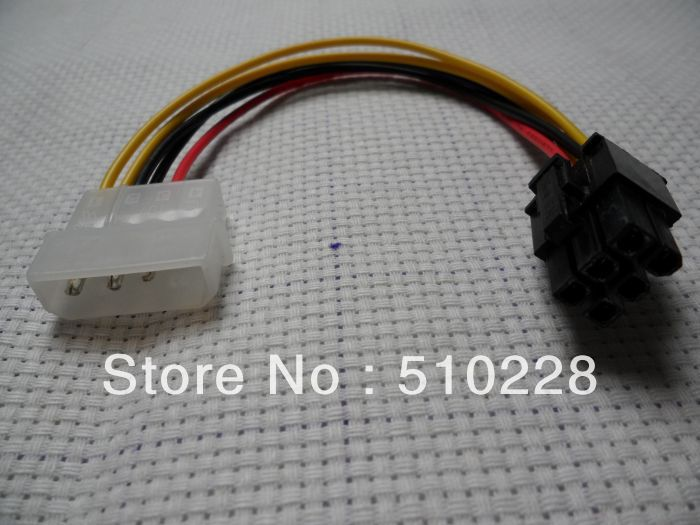 Wholesale Freeshipping IDE 4 Pin to 6 Pins ATX Power Connector Adapter Cable(China (Mainland))