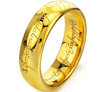 5  pieces New golden The Lord of the Rings Tungsten steel Rings Mens jewelry 6mm width