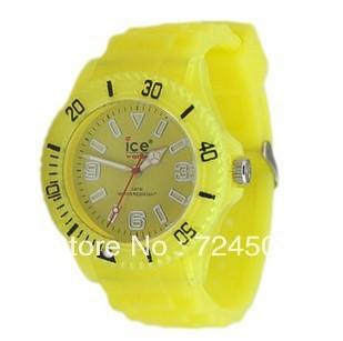 FreeShipping- Hot Sale New Sport Silicone Glow Luminous Jelly Gel Quartz Men Unisex Rubber Watch Night Light Noctilucent Watch