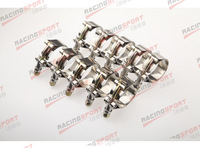 Pack of 10pcs-2'' T BOLT CLAMPS Turbo Pipe Hose Coupler Stainless Steel  54-62mm