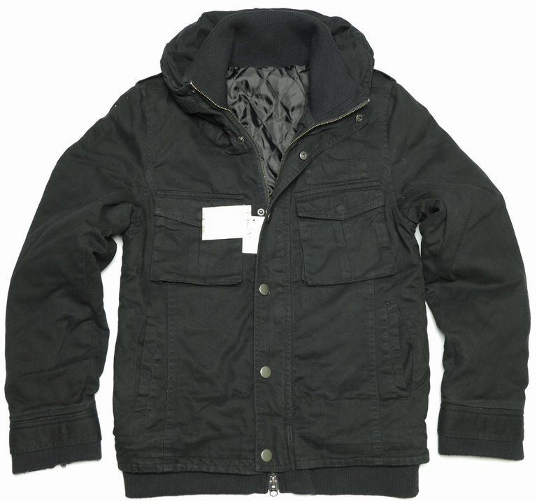 Male 100% cotton clothing black cotton jacket cotton-padded jacket high quality slim(China (Mainland))