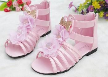 nueva styel princesa niñas zapatos 2013 verano apartamento sandalias botines de bebé de cuero calzado de playa 16-18.5cm