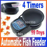 Auto Digital Aquarium Automatic tank Fish Feeder 4 feeding times setup Free Shipping Dropshipping