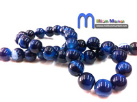 Free Shipping wholesale 50pcs/bag10mm blue round Semi Precious stone agate beads for bracelet/necklace/earring jewelry making