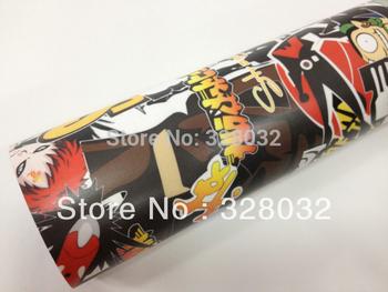 Matt finish Sticker Bomb Graffiti DIY Cute Manga design Car Wrap Vinyl Film Sticker Sheet Size:1.5x30m Fedex Free shipping