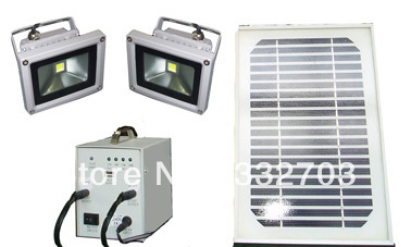 20W Solar Portable Power Kit With 2 spot lights(Hong Kong)