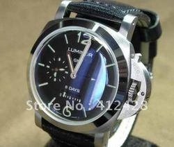2012 HOT Tag New Brand Watches Luxury NEW PAM PAN LUMINOR 1950 8 DAYS GMT STEEL 44MM PAM233 unique Men's wristwatches watch(China (Mainland))