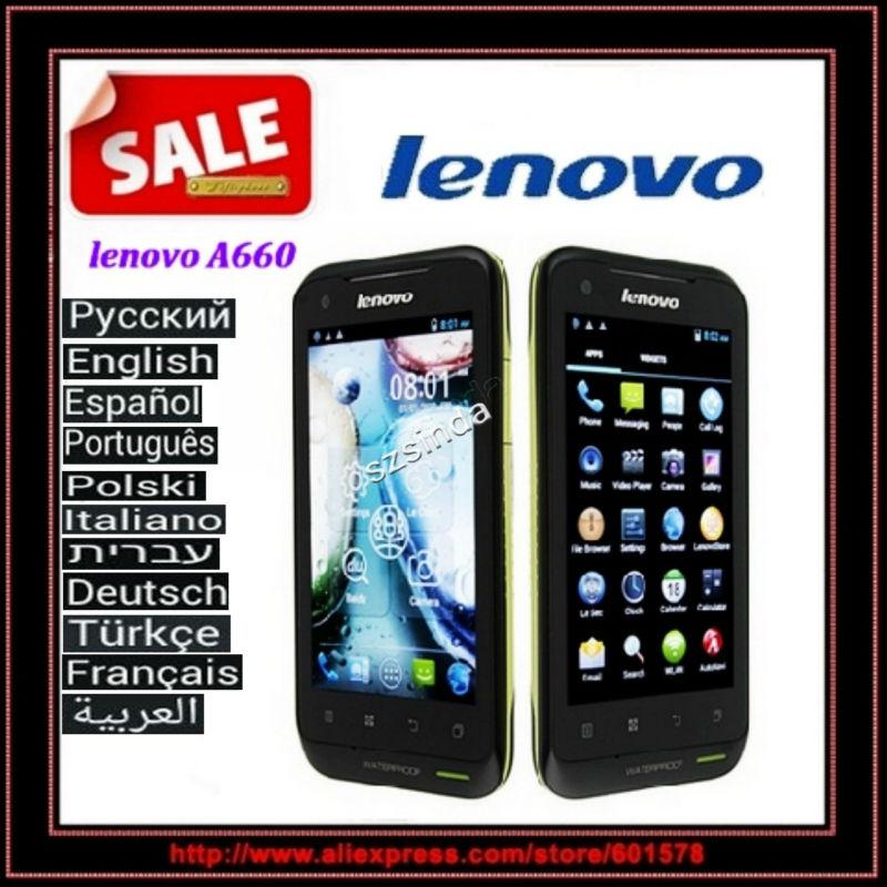 52 idiomas original de lenovo a660 3g del teléfono mtk6577 4gb