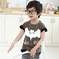 New arrival 2013 child clothing brand short-sleeve T-shirt, children's garment,Batman cartoon