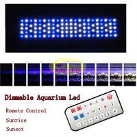 2013 New Programmable Romote 300W Aquarium Dimmable Phantom Led Light 104x3W Sunrise Sunset Coral Reef Led Lighting