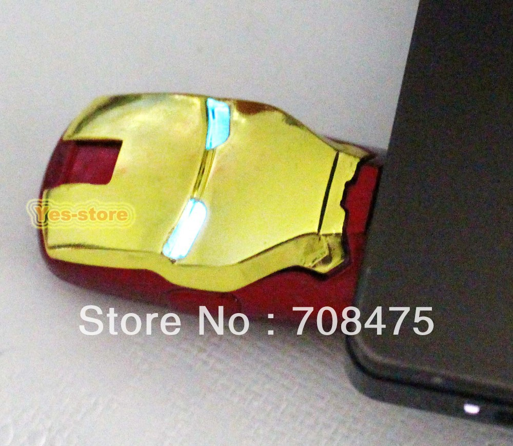 USB Flash Memory Drives 1GB 2GB 4GB 8GB 16GB 32GB True Capacity Iron = man Pendrive Golden color(China (Mainland))