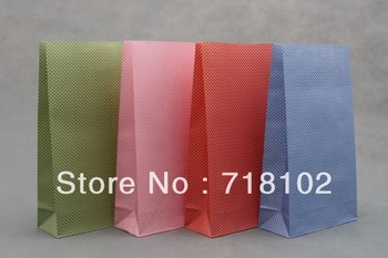 free shipping 50pcs/lot fashional and environmental protection little Polka dots kraft paper bag