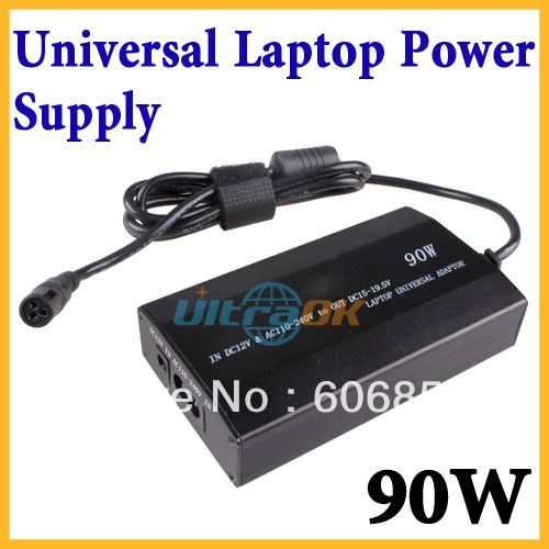 90W Universal Car /home Charger Power Supply Adapter Adaptor For Laptop Notebook+ 8x power plugs(China (Mainland))