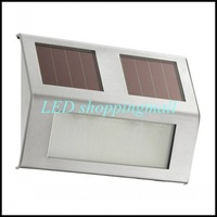 Wholesale 100pcs/lot DHL Freeshipping solar stainless outdoor staircase light,solar powered stairway, wall light, corridor lamp