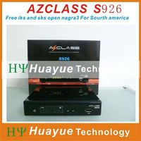 azclass s926 free shipping free iks/sks hd receiver nagra 3 twin tuner satellite receiver for south america