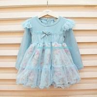 2013 spring child sweet yarn ruffle female child one-piece dress hot-selling