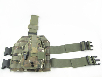 Molle Airsoft Drop Leg Platform Panel Pistol Holster CP free ship