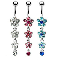 Free Shipping!Wholesale  Dangle Ring  Navel Ring Belly Ring Body Piercing Jewelry EC153