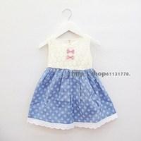 2013 summer female child 100% cotton tank dress sleeveless one-piece dress