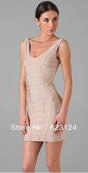 free shipping Women's Off shoulder Noble Ombre Bandage Dress Celebrity Cocktail Party Evening Dresses red dress HL212(China (Mainland))