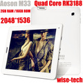 "In Stock Free Shipping 9.7"" Retina Screen Aoson M33 Quad Core Tablet PC RK3188 Cortex A9 2048x1536 2GB RAM 16GB Free Gift  Blake"