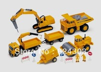 Drilling rig crane trailer engineering car set car model alloy toy
