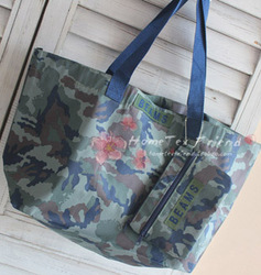 Magazine hearts . b ams Camouflage eco-friendly bag shopping bag folding bag twinset(China (Mainland))