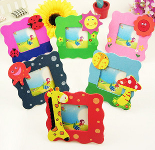 free shiping, 5pcs/lot Mini Cartoon Wood picture/photo frame