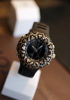 Bling-blin 2013 Full diamond silicon strap quartz big dial women watch