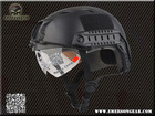 2013 NEW Emerson FAST Helmet with Protective Goggle Base Jump Type helmet Military airsoft helmet Black 8818(China (Mainland))