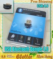 USB bluetooth CSR 4.0 dongle Adapter  A2DP bluetooth 2.1 free shipping